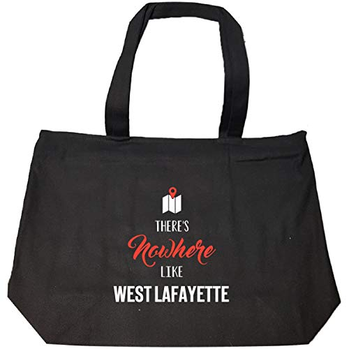 (There's Nowhere Like West Lafayette Cool Gift - Tote Bag With Zip)