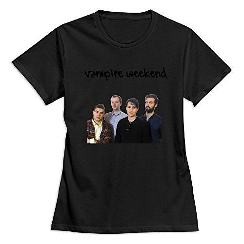 GLYCWH Women's Vampire Weekend T-Shirt Black US Size M Cool