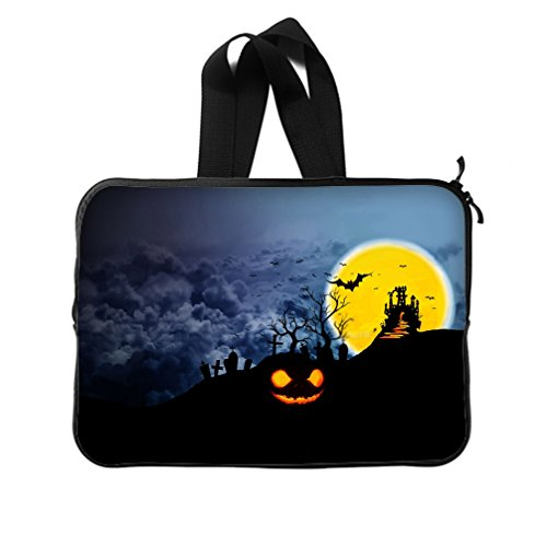 JIUDUIDODO Custom Cool Halloween Evil Jack with Bat Neoprene Laptop Sleeve 15