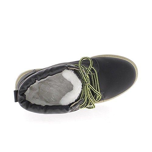 Relleno de botas negras con tacón de 2,5 cm con crampones único
