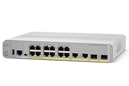 Cisco WS-C3560CX-12PD-S Catalyst 3560-CX 12 Port PoE 10G Uplinks IP Switch