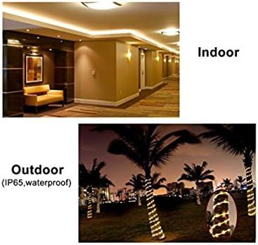 (LA) 5 Meter LED-Lichtleiste bis 220V, wasserdicht, 60W. 120 led / meter. Schneiden Sie 10 cm. Kaltes Weiß. 4800 echte Lumen! Led-Streifen der letzten Generation.