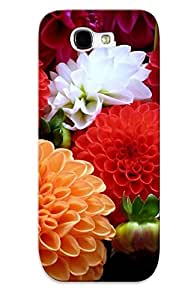 Ssqmwh-1580-urrnehz Exultantor Awesome Case Cover Compatible With Galaxy Note 2 - Colorful Dahlias