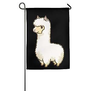 Bandera de jardín Llama para interiores y exteriores, decorativa, bandera de jardín de poliéster, bandera de 1218 pulgadas 1827 pulgadas