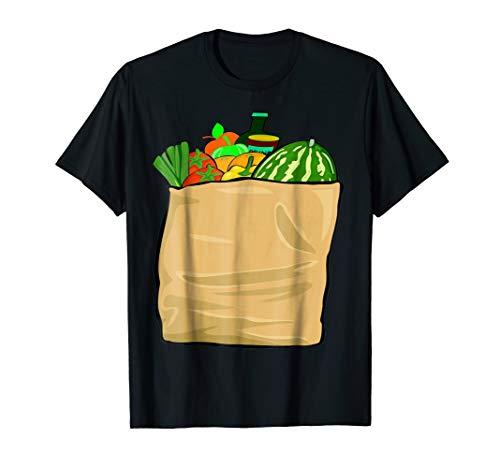 Bag Of Groceries T-Shirt Funny Grocery Bag Halloween Costume -