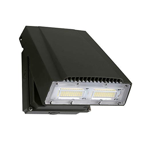 (ELECALL 50W LED Wall Pack Adjustable Fixture, 150W HID Replacement, 5000K Daylight, 6000 Lumens, Waterproof and Outdoor Rated, IP65, ETL Listed)
