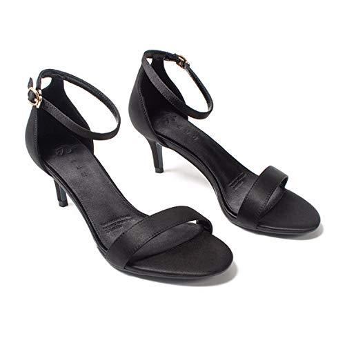 Profondeur Hauts Cm Bas Talons t En Simples Une Mot Kphy De 5 Chaussures Thirty seven Sandales Noir Boucle 7zqxUFRw