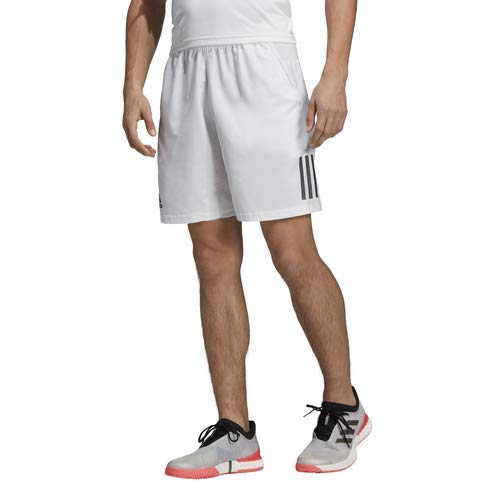 0b83e8d5cfe6 adidas Men's Club 3-Stripes Tennis Short, White/Black, Small