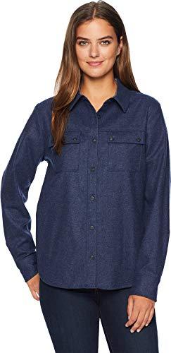 - Pendleton Women's Quimby Hi-Lo Wool Shirt Navy Mix Medium