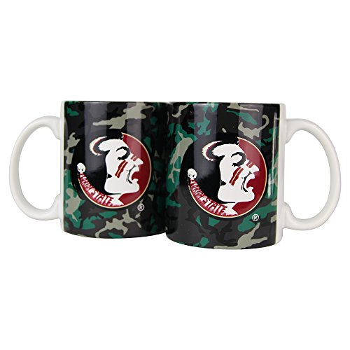 NCAA Camouflage 11oz Coffee Mug (2 Pack) (Florida State Seminoles)