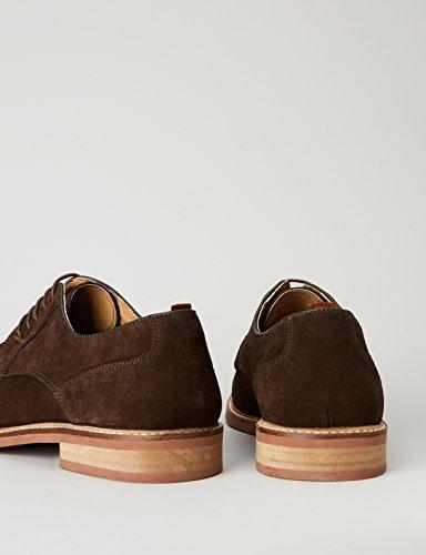 Marrón Derby Brown de Find Zapatos Cordones Hombre UvFOFXxw