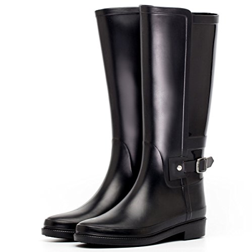 HOFFNUNG Männer Frauen Regen Stiefel Wasser Schuhe Wasserdicht Anti-Schlamm Vier Jahreszeiten Anti-Rutsch Keep Warm Noble,F-d A