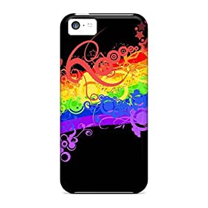 5c Scratch-proof Protection Cases Covers For Iphone/ Hot Abstract Rainbow Phone Cases