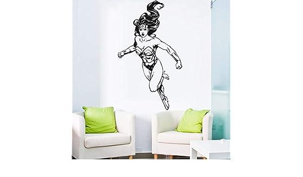yaonuli Etiqueta de la Pared Etiqueta de Vinilo héroe Mujer ...