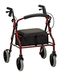 nova medical products zoom 20 rolling walker red by nova