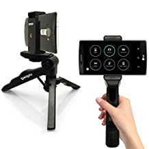 iGadgitz 2 in 1 Pistol Grip Stabilizer and Mini Lightweight Table Top Stand Tripod with Phone Bracket Mount for LG G3, G4, G5, Nexus 5X, V10, G4c, G4 Beat, G Flex, Optimum G Pro