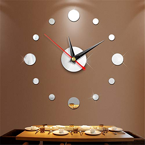 New 3D Acrylic Mirror Wall Watch DIY Watch Digital Art Living Room Watch Sticker Novelty Rush to Home -