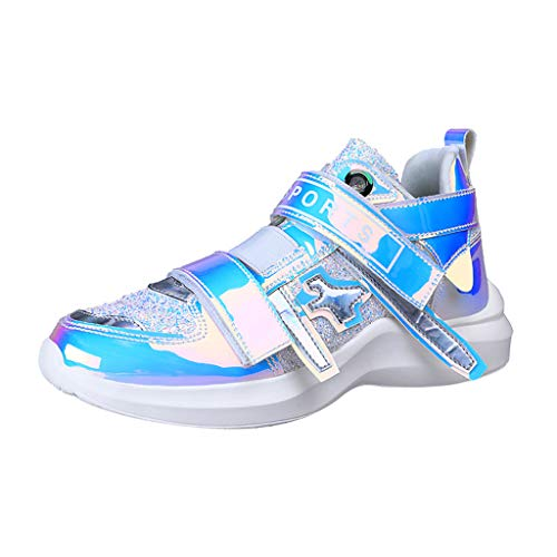 (Foncircle ❀ Fashion Shoes ❀, Women's Colorful Mirror Trend Sneakers Nightclub Wild Sequined Casual Shoes)