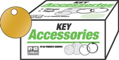 HY-KO PROD Office Storage Accessory , 100 Pack 1-3/8 Brs Key Tag (KB148)