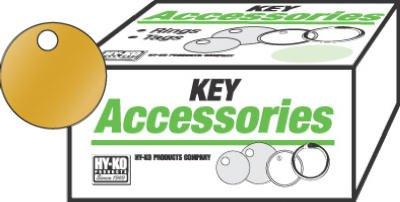 HY-KO PROD Office Storage Accessory , 100 Pack 1-3/8 Brs Key Tag (Brs Key)