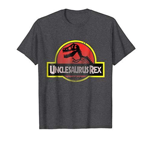Mens Unclesaurus Rex Funny Uncle T-shirt 3XL Dark ()