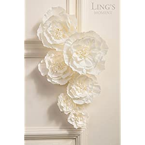 Ling's moment Paper Flower Assortment w Leaves 2