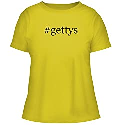 Bh Cool Designs Gettys Cute Women S Graphic Tee Yellow Xx Large