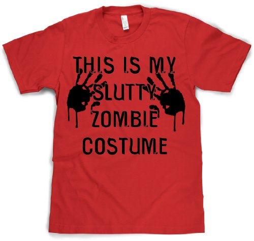 [This is my Slutty Zombie Costume T Shirt Halloween costume tee M] (Pun Costumes For Guys)