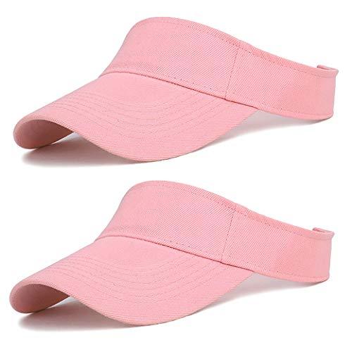 Edian Golf Visors for Women, Cotton Adjustable Running Tennis Visors (Pink) ()