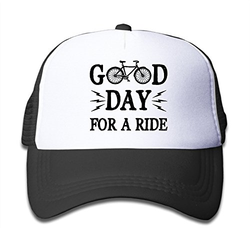 Good Day For A Ride Bicycle Adjustable Child Small Hats Visor Hat Fits 6~13 Years\r\nOld Kids