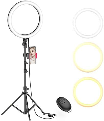 Lamicall LED Circle Halo Light for Youtube Video Recording//Photography Aro De Luz Compatible with All iPhones 10 Selfie Ring Light with 67 Tripod Stand /& Cell Phone Holder for Live Stream//Makeup