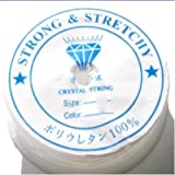 k2-accessories 24m Spool Translucent Cystal / Strong & Stretchy Elastic Beading Cord / String / Thread - Clear - A7330-A / 0.4mm