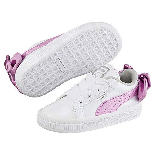 Bow Ps Patent Girl Puma Bianco Scarpe Basket Ac Sportive SqO5nFBvwx
