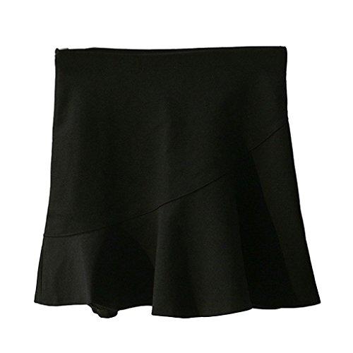 Providethebest Femmes Fish Tail Solide Jupe Couleur Femme Fille Anti Exposition Coton Jupenoir S Coton