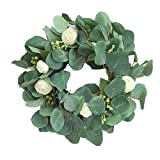 Heayoup Simulate Wreath Pretty Garland Floriation Hanging Pendant Decoration for Home Wedding -40 Green 30cm