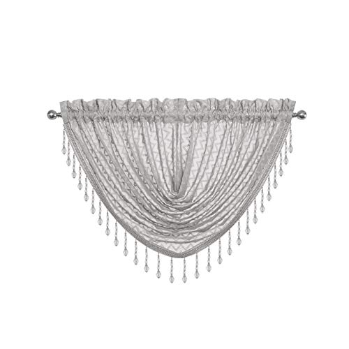 Regal Home Collections Chevron Window Valance Gray