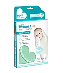 Love to Dream Swaddle UP Lite, Ice Green, Medium 13-18.5 lbs