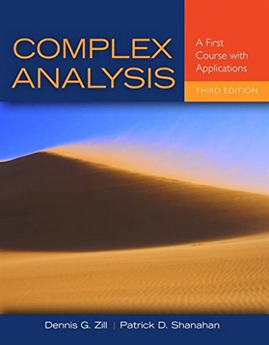 1449694616 - Complex Analysis: A First Course with Applications