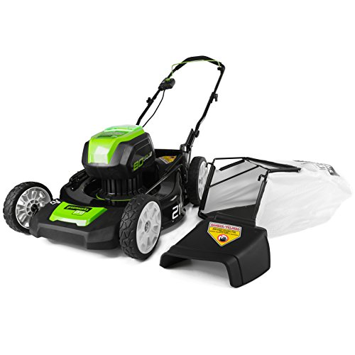 GreenWorks PRO 21-Inch 80V Cordless Lawn Mower, Battery Not Included GLM801600 by Greenworks