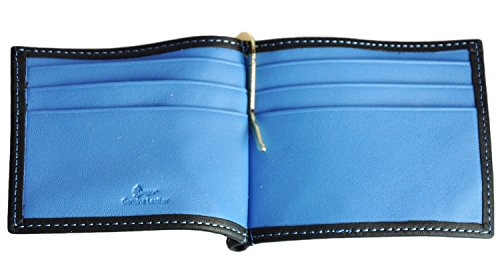 Collection Wallet with Royce Pocket Cash Outside Leather Metro Light Clip Men's Blue fzfXWpOwq4