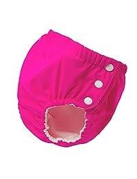 Baoblaze Baby & Toddler Snap Reusable Absorbent Swim Diaper - Rose red (for5-10KG), as described
