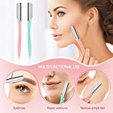 Lurrose Eyebrow Razors Shavers, Facial Hair Trimmer for Women and Men, Multipurpose Exfoliating Eyebrow Shapers, 10PCs