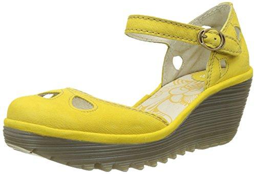 FLYA4|#Fly London Yuna, Zapatos De Tacón Para Mujer Amarillo (Lemon 126)