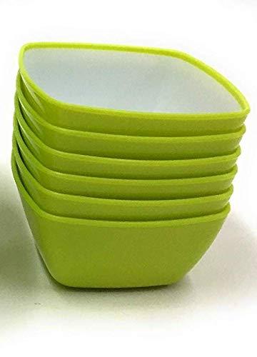 Honeyshopee SKI Microwave Safe 6 Small Bowls - Square (Color May Vary)