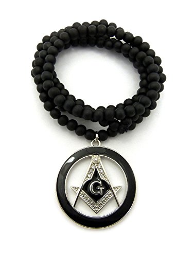NEW FREEMASON ROUND PENDANT &6mm/30