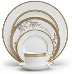 Vera Wang Wedgwood 5014697730 Vera Lace Gold 5-Piece Dinnerware Place Setting  sc 1 st  Amazon.com & Amazon.com: Gold - Dinnerware Sets / Dining \u0026 Entertaining: Home ...