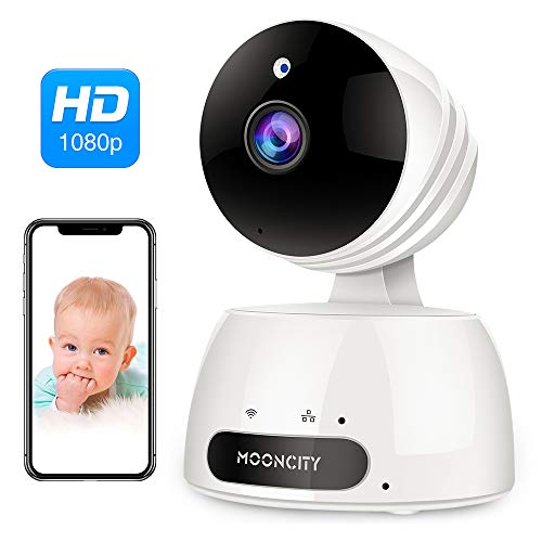 WiFi Home Security Camera with Pan Tilt Zoom, 1080P Wireless IP Indoor Camera with 2 Way Audio,Motion Detection,Night Vision for Pet Baby Monitor (White) (Home Security Camera Monitor)