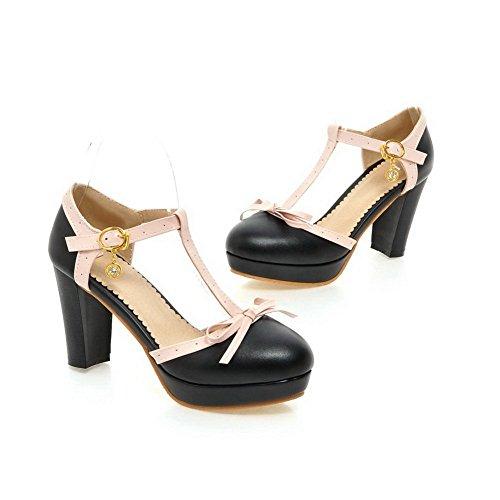 Balamasa Girls Scarpe Con Tacco In Metallo Bowknot Materiale Morbido Pumps-shoes Nero