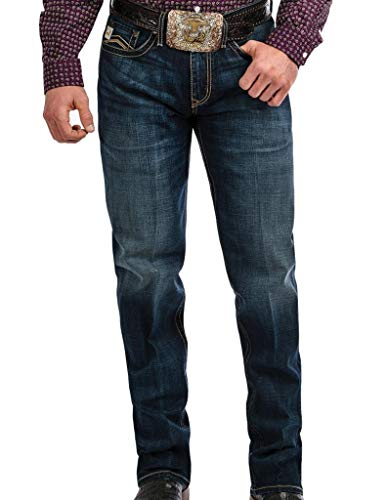 Cinch Men's Grant Relaxed Fit Jean, Performance Winter Blue, 34 x36 from Cinch