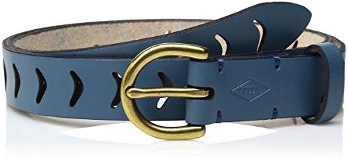 Arrow Leather Belt (Fossil Women's Arrow Perforated Belt Cornflower, Cornflower,)